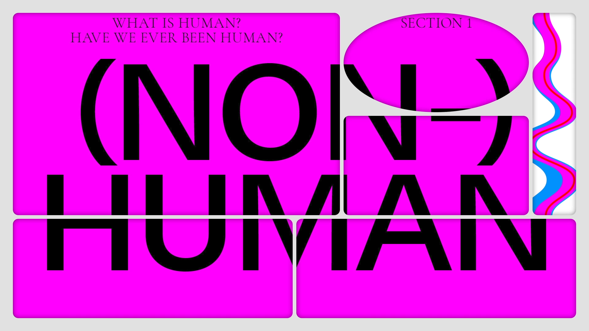 The Driving the Human Opening Festival graphics, by Studio Yukiko